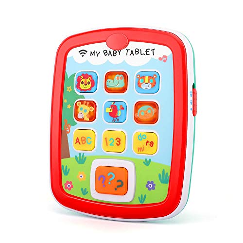 Toddler Learning Music Tablet By LWL - Interactive Toy With Fun Music Notes Lights Animal Sounds Numbers and letters Engages Baby For Hours - Early Education Toy Gift For 6 12 18 Month Boys & Girls