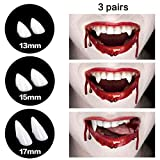 Toys : CPSYUB Cosplay Vampire Fangs, Cosplay Accessories Halloween Party Prop Decoration Fake Vampire Teeth, Werewolf Fangs Vampire Dentures for Kids / Adults (3 Pairs)