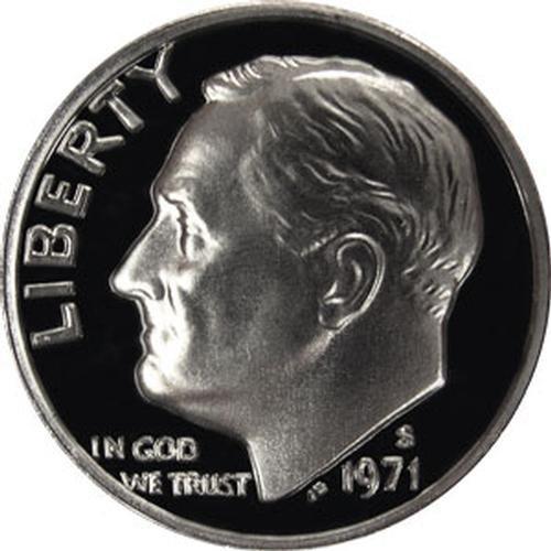 1971 S Gem Proof Roosevelt Dime US Coin