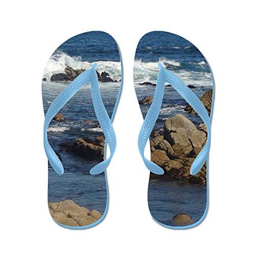 Cafepress California Ocean 02 - Infradito, Sandali Infradito Divertenti, Sandali Da Spiaggia Blu Caraibico