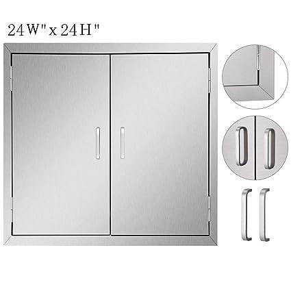 Seeutek Outdoor Kitchen Doors BBQ Access Door 24W x 24H Inch - Stainless  Steel Double Wall Construction Vertical Door for Outdoor Kitchen Grilling  ...