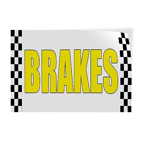 Vinyl Banner Sign Brakes Auto Body Shop Car Repair Style U Business White