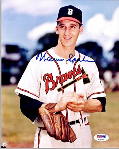 (Warren Spahn Signed Photo - 8x10 inch Certificate of Authenticity COA) - Deceased Hall of Famer - PSA/DNA Certified)