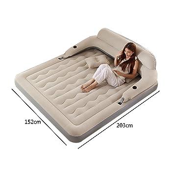 Amazon.com: Cama hinchable con respaldo para cama de ...