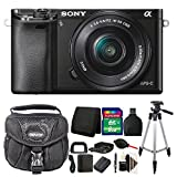 Sony Alpha A6000 Mirrorless Digital Camera Black with 8GB Deluxe Accessory Kit
