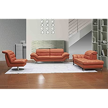 J And M Furniture 18062 LG Astro Pumpkin Lounger