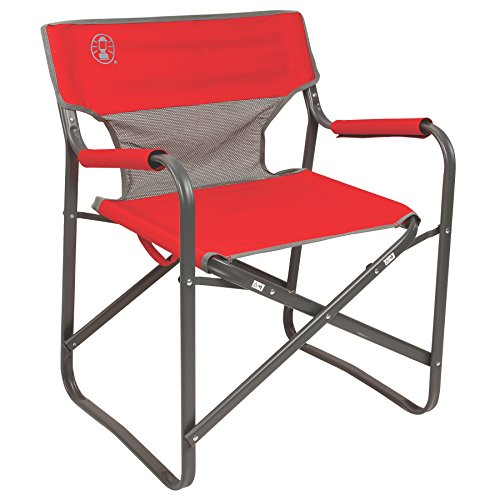 Coleman 2000019421 Chair Steel Deck Red ()