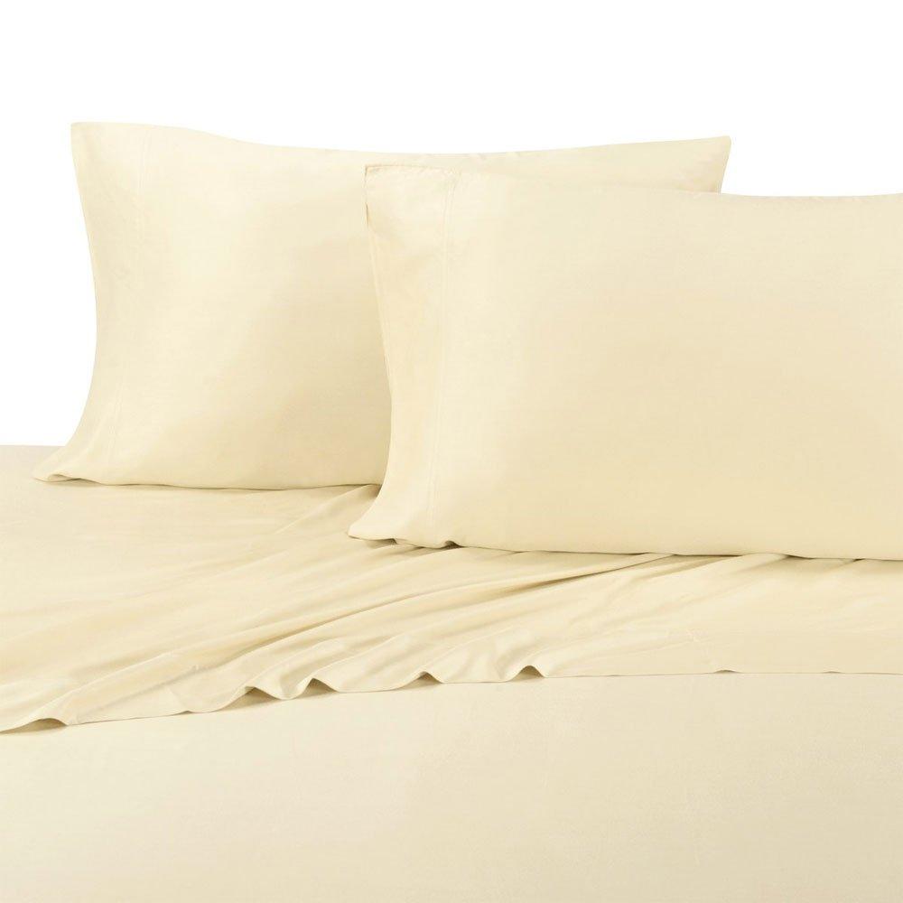 Royal Hotel King Ivory Silky Soft Bed Sheets 100% Bamboo Viscose Sheet Set