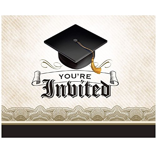 Graduation Gown Foldover Invitations Pack