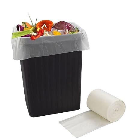 Bblie 40L 100% biodegradables bolsas de basura, blanco ...