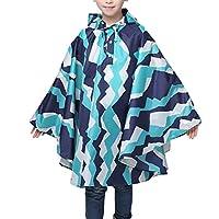Suplove children Waterproof Hood Raincoat Poncho Coat For Girl Boy (Blue, S)