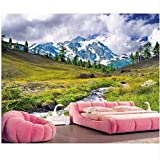 Pbldb 3D Wallpaper Custom Photo On The Wall Plateau Snow Mountain Natural Scenery Home Decor Living Room Wallpaper for Walls 3 D-250X175Cm