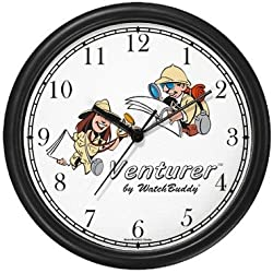 Venturer Man & Woman Wall Clock by WatchBuddy Timepieces (Hunter Green Frame)
