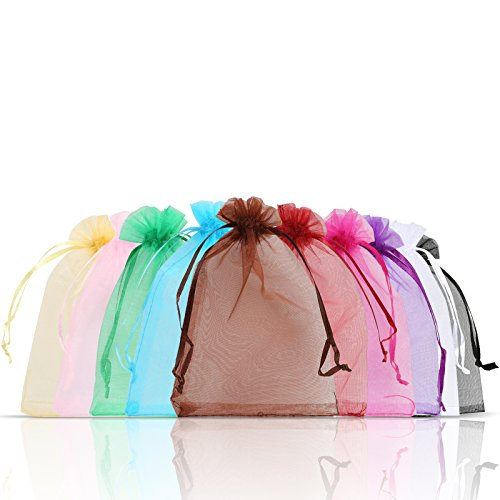 (Naler Organza Drawstring Bags Jewelry Party Wedding Favor Gift Bags 4