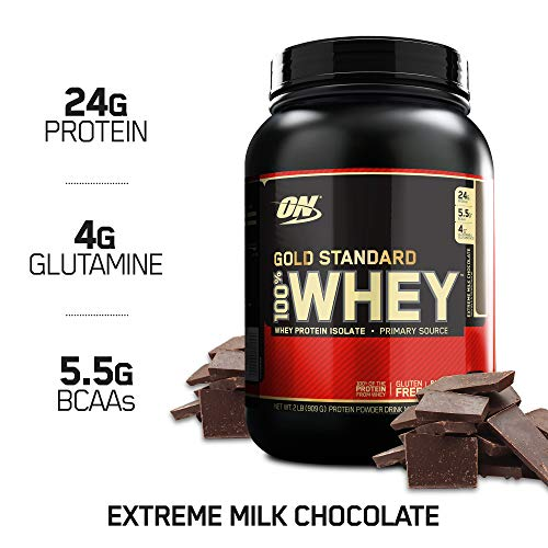 OPTIMUM NUTRITION Gold Standard 100% Whey Protein Powder, Extreme Milk Chocolate, 2 Pound ()
