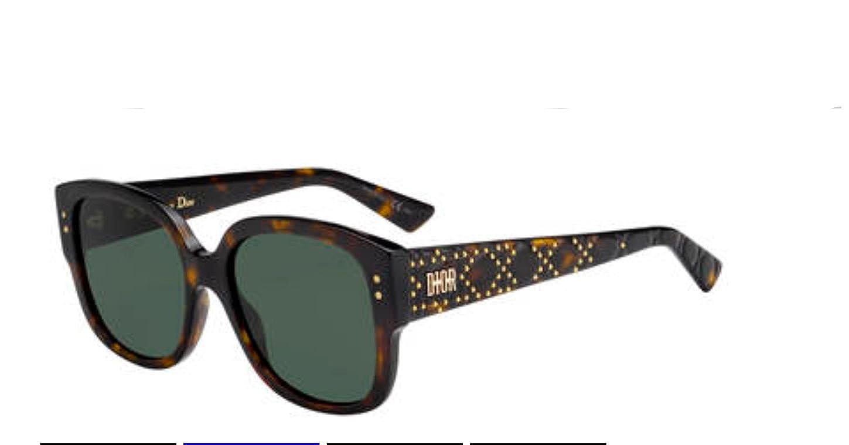 85e7968168c9e Amazon.com  Authentic Christian Dior Ladydiorstud S 0086 O7 Dark Havana  Sunglasses  Clothing