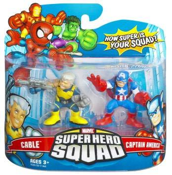 Hasbro Superhero Squad Mini Figure 2008 Wave 1: Captain America & Cable