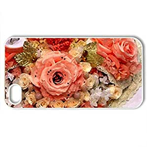 VALENTINE's DAY PROPOSAL - Case Cover for iPhone 4 and 4s (Flowers Series, Watercolor style, White)