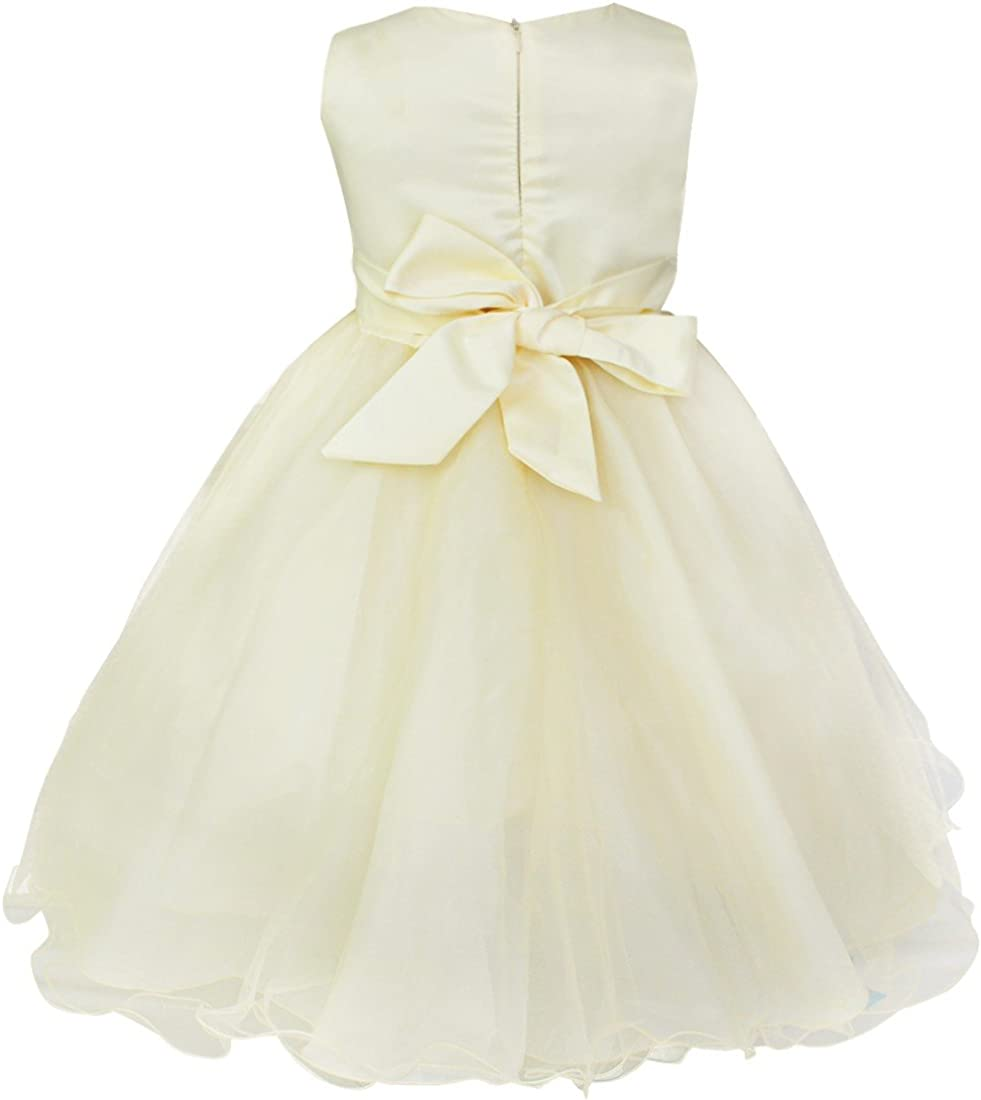 UK/_Girl Big Bowknot Party Pageant Wedding Flower Girl Dress Prom Dress Ball Gown