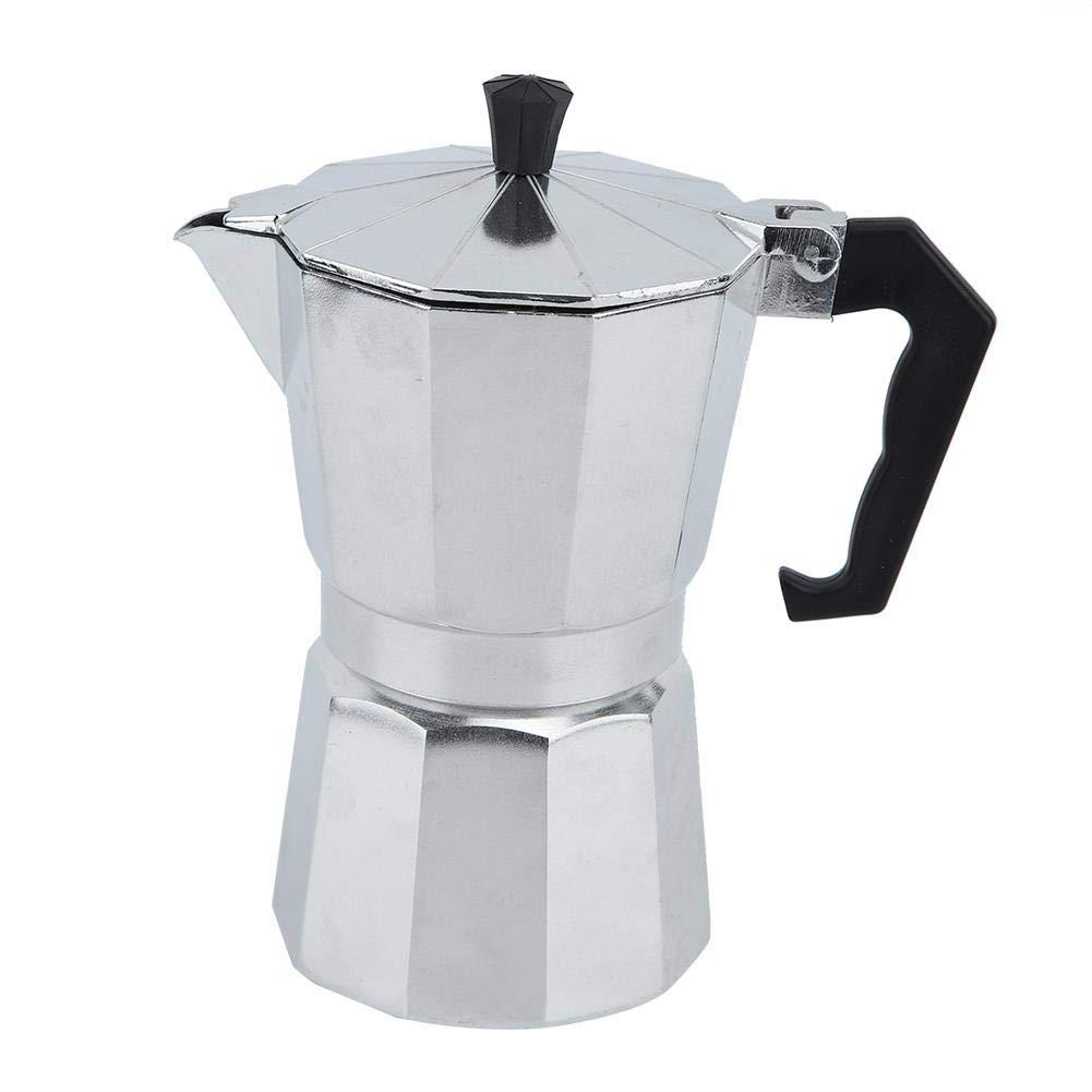 Aluminum Espresso Maker Coffee Pot Aluminum Coffee Maker Coffee Octagonal Kettle For Home Office by Yosooo