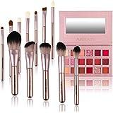 Makeup Palette Brushes Set,12Pcs Pro Premium Synthetic Make up Brush + 18 Color Makeup Eyeshadow Palette Shimmer Matte High Pigmented Long Lasting Make up Eye Shadow Pallete Cosmetics