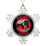 Christmas Snowflake Ornaments Xmas Trees Decorated Red Honey Badgers dont care Tree Garland Badgers