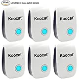6PCS Ultrasonic Pest Repeller - Electronic Plug In Control Repellent for Rodents, Mice, Rats, Insects, Roaches, Spiders, Flies, Ants, Bugs, Fleas, Non-toxic, Environment-friendly, Humans & Pets Safe