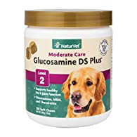 NaturVet Glucosamine DS Level 2 Moderate Joint Care Formulated to Supply Important Joint Support Needs for Adult Pets, Including Large Breeds and Overweight Pets. Provides Important Antioxidants and Helps to Support the Structural Integrity o...