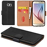 Best Galaxy S6 Phone Cases - Galaxy S6 Case, Aicoco Flip Cover Leather, Phone Review