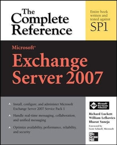 Download Microsoft Exchange Server 2007: The Complete Reference PDF