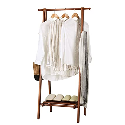 a9db317679fe Amazon.com: YX Xuan Yuan Wooden Coat Rack,Multi-Functional Bamboo ...
