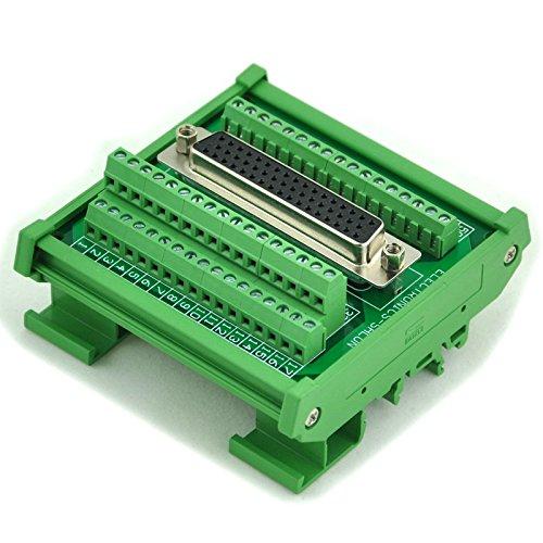 Electronics-Salon D-SUB DB50 Female DIN Rail Mount Interface Module, Breakout Board.