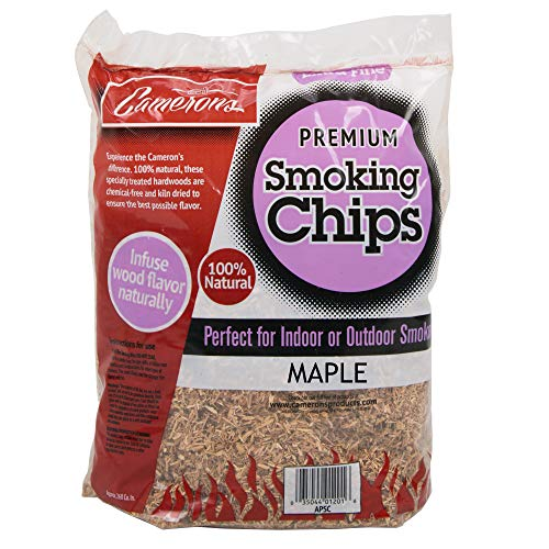 - Camerons Smoking Chips - (Maple) Kiln Dried, 100% Natural Extra Fine Wood Smoker Sawdust Shavings - 2lb Barbecue Chips