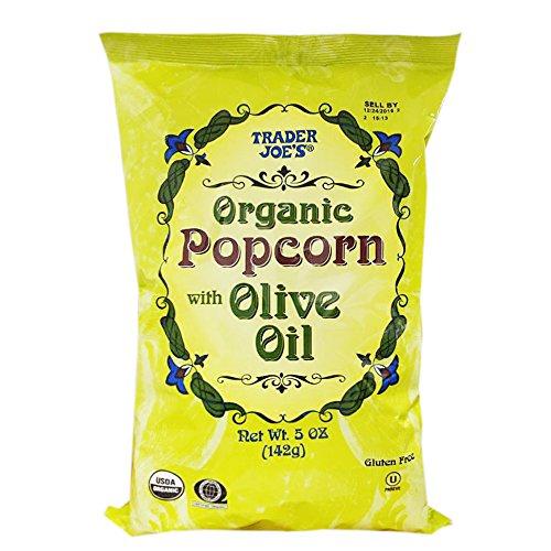 Trader Joe's Organic Popcorn with Olive Oil 5oz (5 Pack)