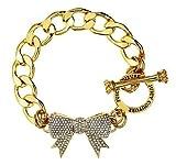 Juicy Couture B-pave Bow Charm Bracelet