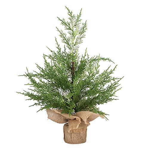 VGIA 18 inch Mini Christmas Tree Artificial Christmas Pine Tree with a Wooden Base (Christmas Tree Artificial Pine)