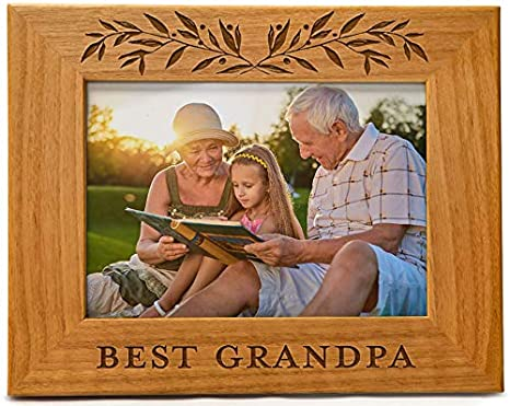 Father/'s Day Gift Grandpa Gift for Grandfather Only The Best Dads Get Promoted Grandfather Gift Personalized Grandpa Picture Frame