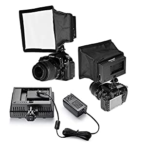 Neewer 160 LED CN-160 Dimmable Camera/Camcorder Video Light with Softbox and AC Power Supply Adapter for Canon,Nikon,Pentax,Panasonic,Sony,Samsung and Olympus Digital SLR Cameras