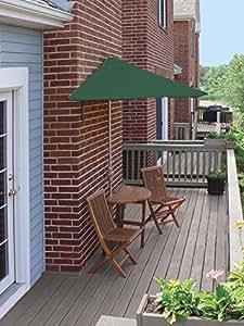 5-Piece Terrace Mates Deluxe Outdoor Furniture Set 7.5' - Green Sunbrella