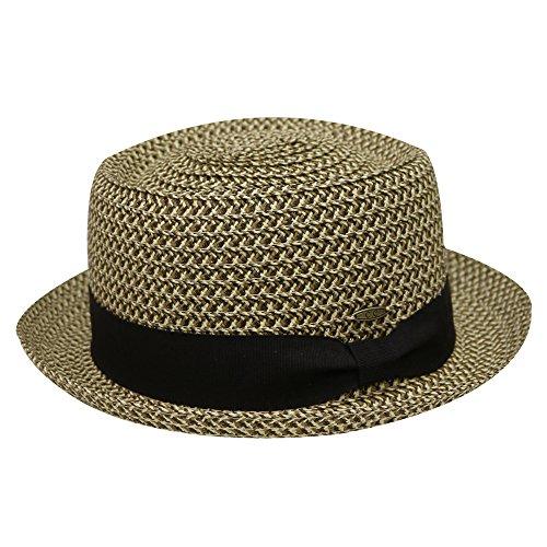 Unisex Cc St111 Upf50+ Protect Wide Brim Straw Sun Hat 2 Colors (Porkpie Brown)