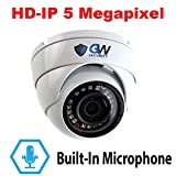 GW Security 5 Megapixel Super HD 1920P Network PoE 1080P Security Dome IP Camera Built-in Microphone, Audio Recording, Power Over Ethernet Review