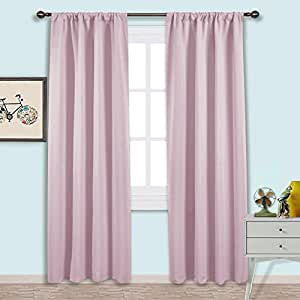 Nicetown living room blackout curtains nursery essential thermal insulated solid - Amazon curtains living room ...