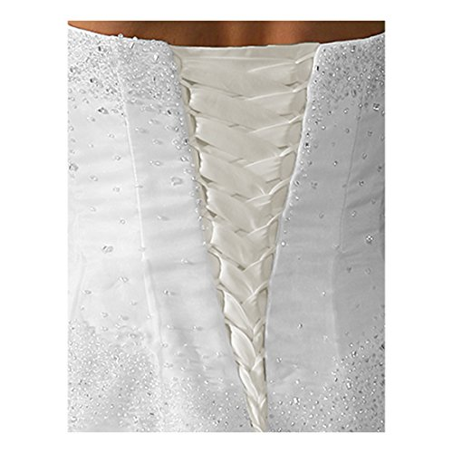 Laceeis Wedding Gown Replace Zipper Adjust Fit Corset Back Kit Lace-Up Satin Light Ivory 8""
