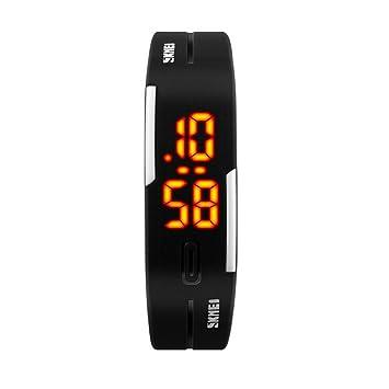 TTLIFE 1099 Unisex relojes de pulsera para las mujeres del deporte al aire libre femenino reloj de pulsera digital resistente al agua (negro): Amazon.es: ...