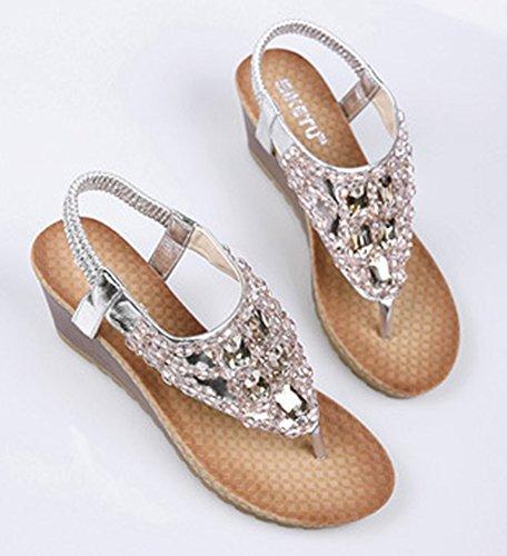 Chaussures Boho argentées femme vdm0q