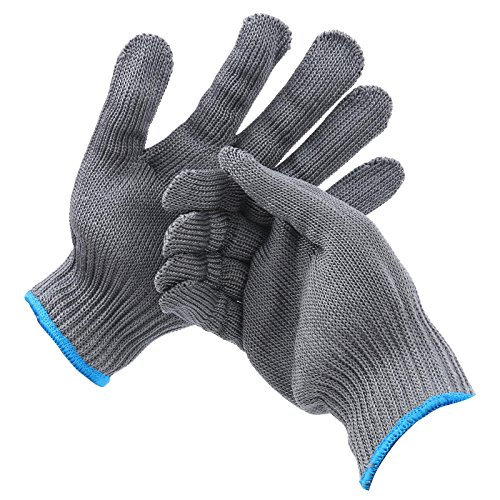 Maxcatch Cut Resistant Fillet Glove -One Pair, XL (Grey, XL) - 11 Cut Resistant Gloves