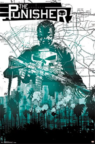 The Punisher - Map Poster 22 x 34in