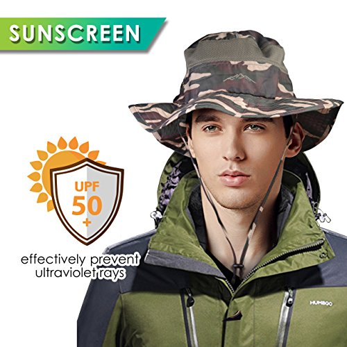 Upgraded Version of Dimples Excel Sun Hat with Mosquito Net Head- UPF 50 Protection, Summer Hat Wide Brim for Fishing, Walking, Hiking,Camping, One Size (Camo-Mosquito Netting)