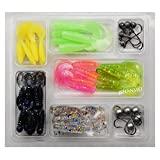 Fishing Lures Set Soft Bait Jig Hooks Lure Hooks Fishing Lures Trout/Crankbait/Pike/Bass Lure Lead Jig Hooks Three Type Box Set