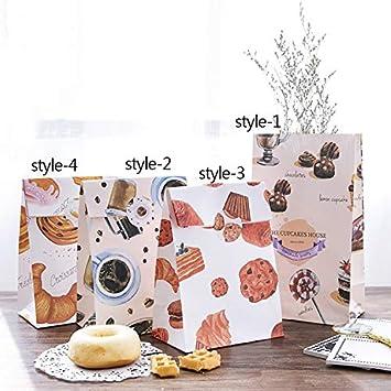 AaaSue - Pack de 30 bolsas de papel para alimentos de Kraft ...